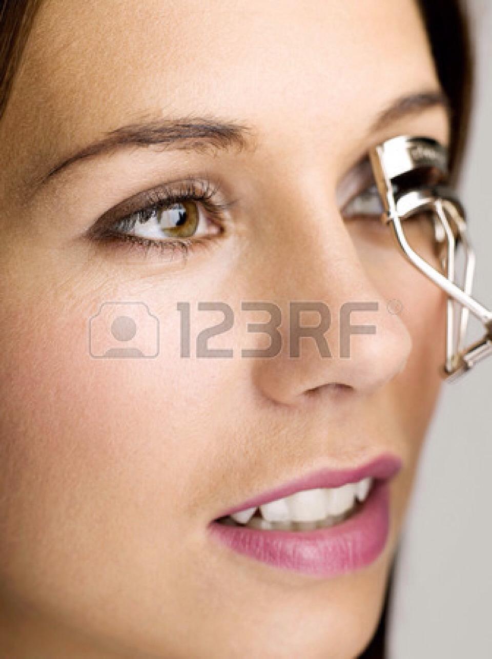 Before curling eyelashes apply....