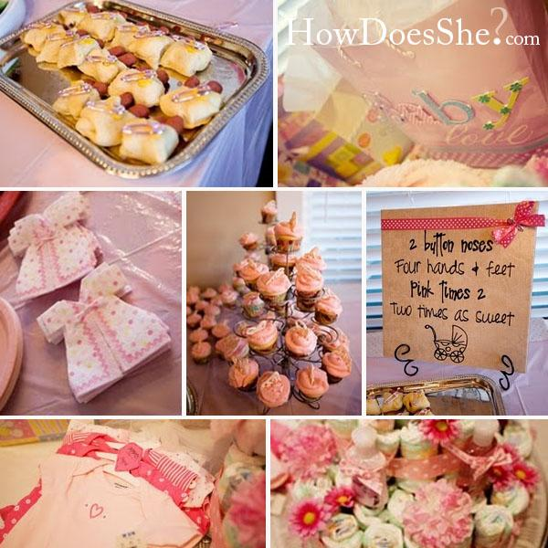 Pink tmes theme baby shower