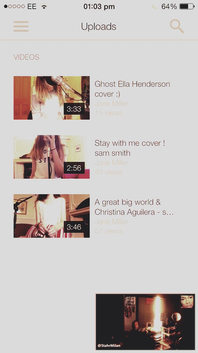 Go check her out she is about 3 months old on youtube with no subscribers but has great voice go check her out !!