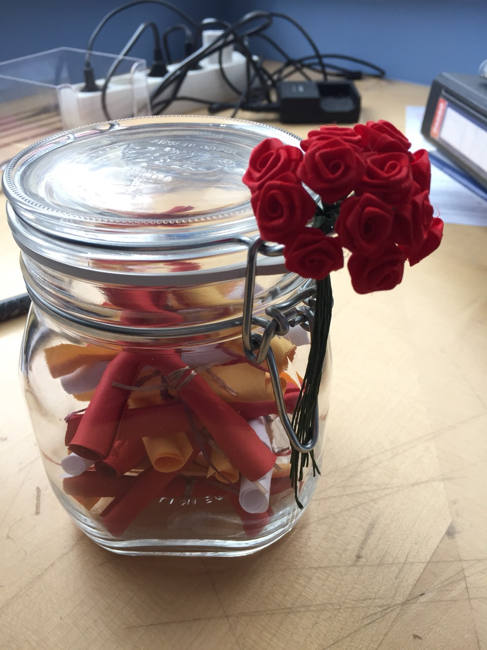 Add the roses to your bottling jar and you are ready to go ☺️   Like, Save or Follow if you like this tip. ☺️