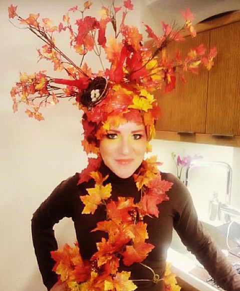 Costume: Autumn tree  Leaves Polyester Maple Leaves ($1)