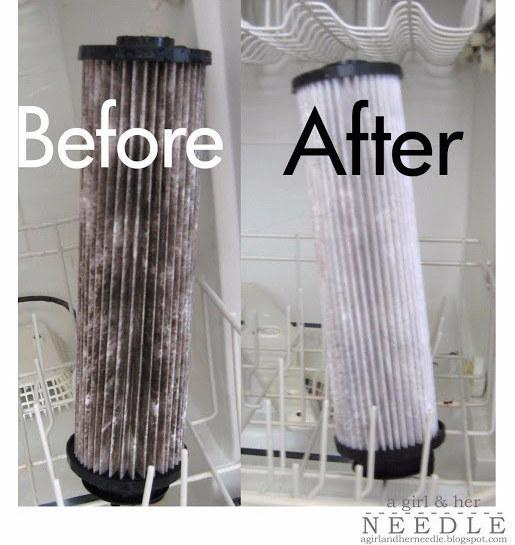 5. Clean your vacuum filters in the dishwasher.
