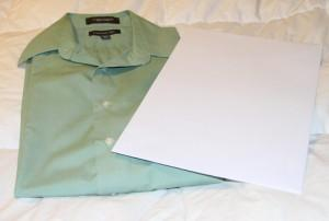 9. Step back and admire your perfectly folded shirt!