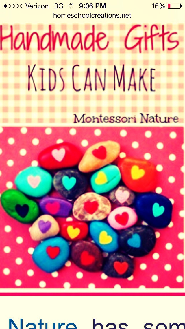 Paint rocks with harts or other lovey things!!!