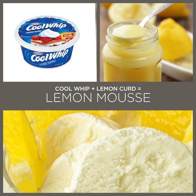 Cool Whip + Lemon Curd = Lemon Mousse