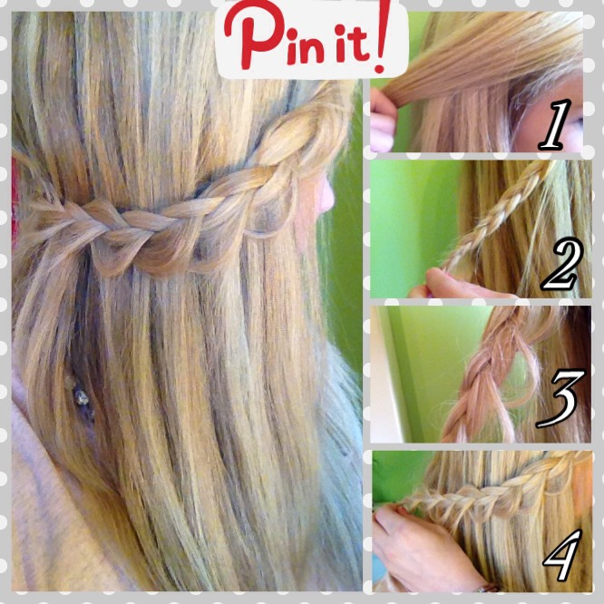 This hair style is really cute and puts a different and elegant twist on a regular braid. It's a great idea for a new summer look! 🌺 enjoy! (I created a summarized version of the tutorial above so you can snapshot it-double click 😁)
