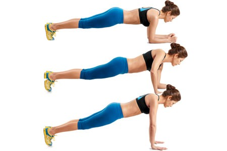 10 plank walks . This exercise is great for your shoulders and arms