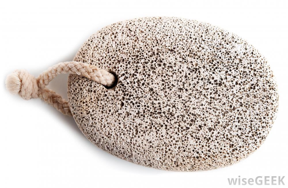Use a pumice stone to remove baked on or hardened food from any surface.