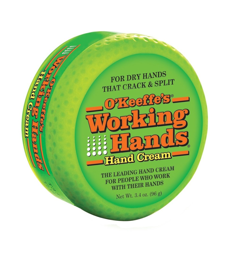Working hands is the best lotion for dry hands! It has no smell and doesn't feel greasy while working amazing! It feels like coconut oil going on to you hands and works just as well!
