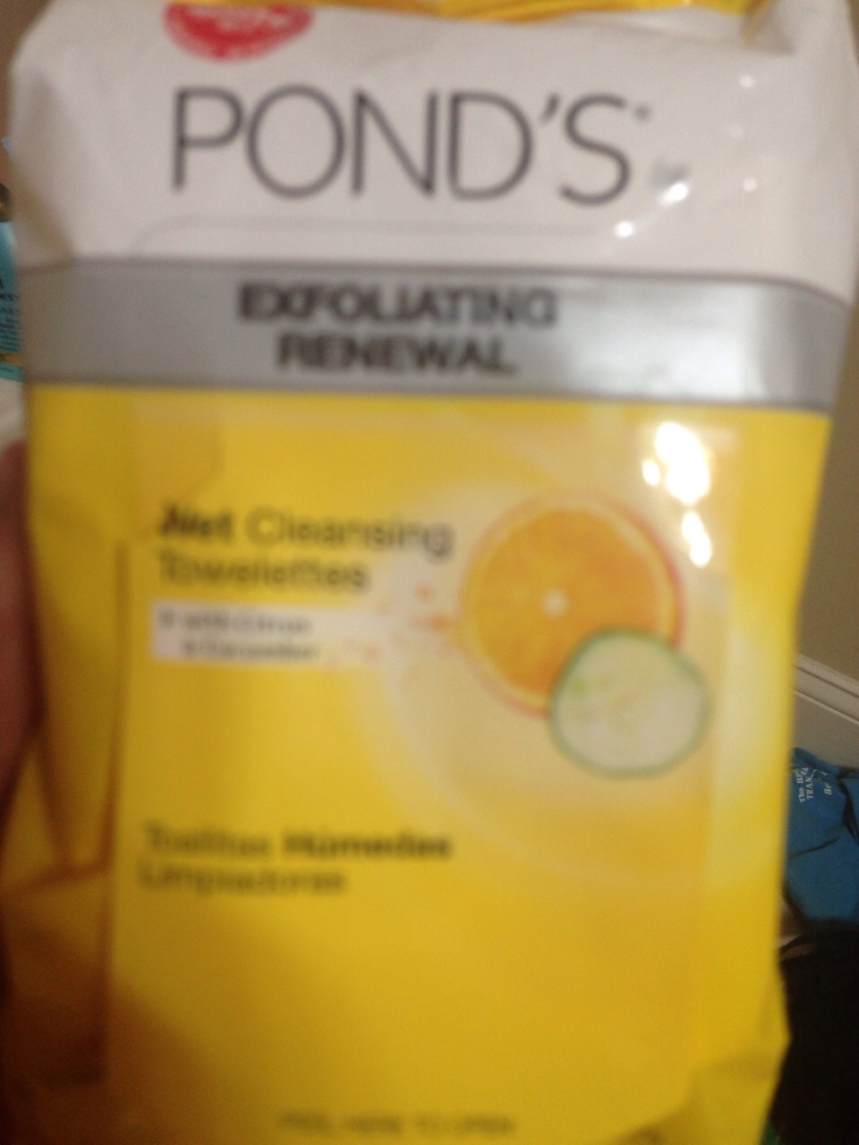 I recommend taking your makeup off with these because they exfoliate your skin and smell soo good!!