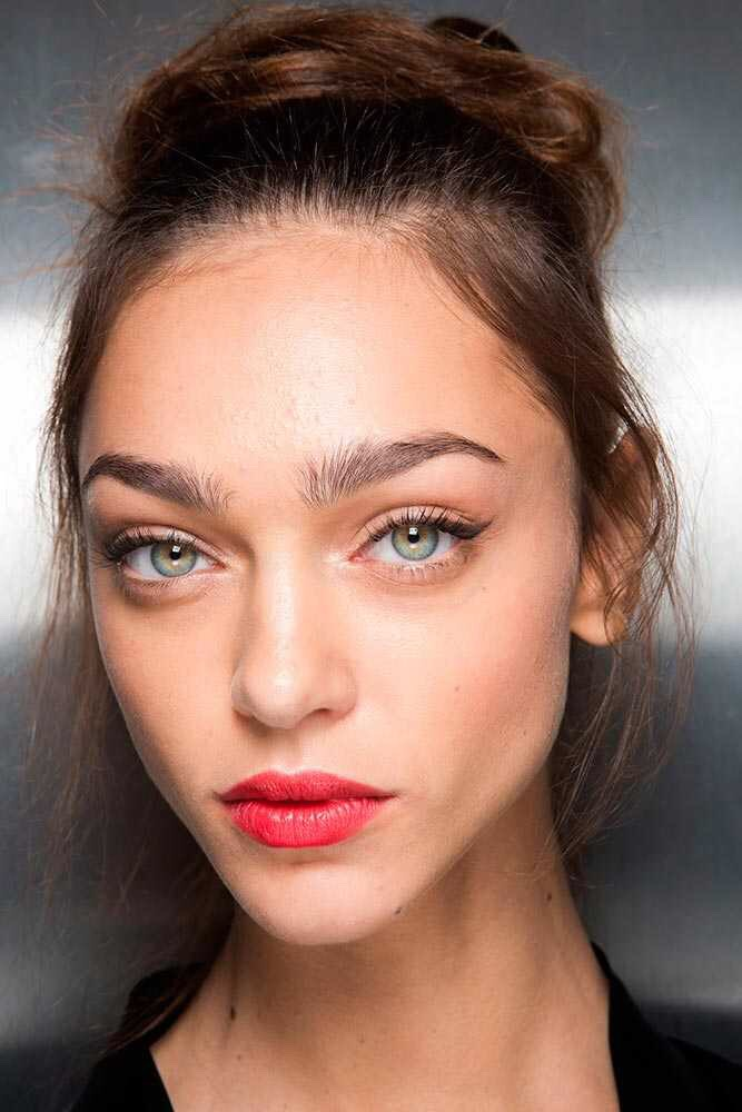 Put on some lipstick and a little mascara. Keep it simple.