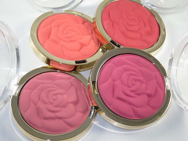 Blush:  Brand: Milani Name: unsure  If you are looking for store makeup however, look no further! Milani has super cute rose petal shaped blushes in various shades of pinks. I'll admit I've never tried this blush but it's looks adorable  *also Milani is a really great makeup brand for other various