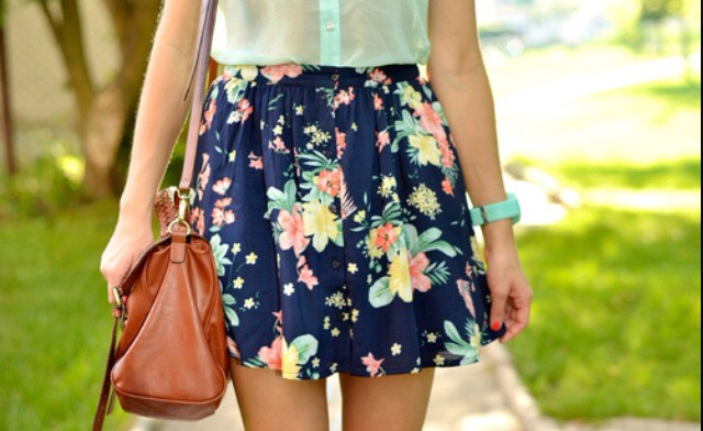 Try a floral skirt!