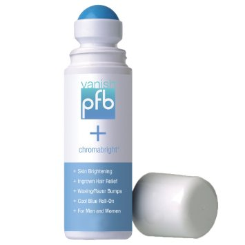 PFB Vanish + Chromabright is the only lightening and ingrown hair roll-on on the market. It's 2 in 1 solution helps to lighten dark spots caused by shaving & waxing & zaps out the ingrown hairs & razor bumps that comes with it. Try it out!  https://www.pfbvanish.com/shop2.aspx?sguid=#pfb2