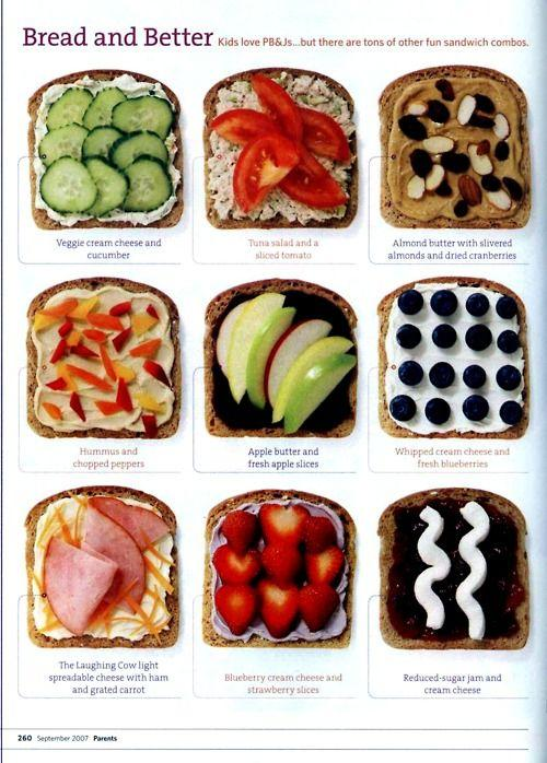 Talk about putting some variety into lunch. Love this!
