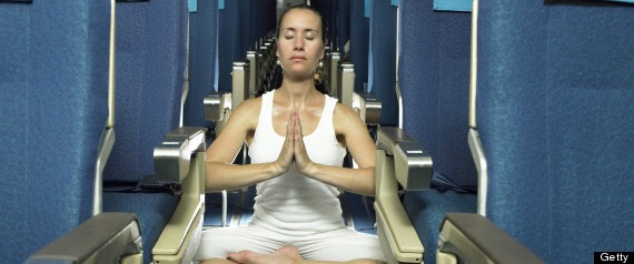 Meditate in your seat! It relaxes your stomach and calms you down so you don't trow up