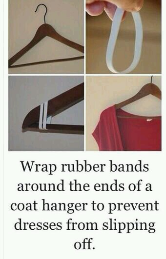 Inexpensive way to make those shirts stay on their hangers.