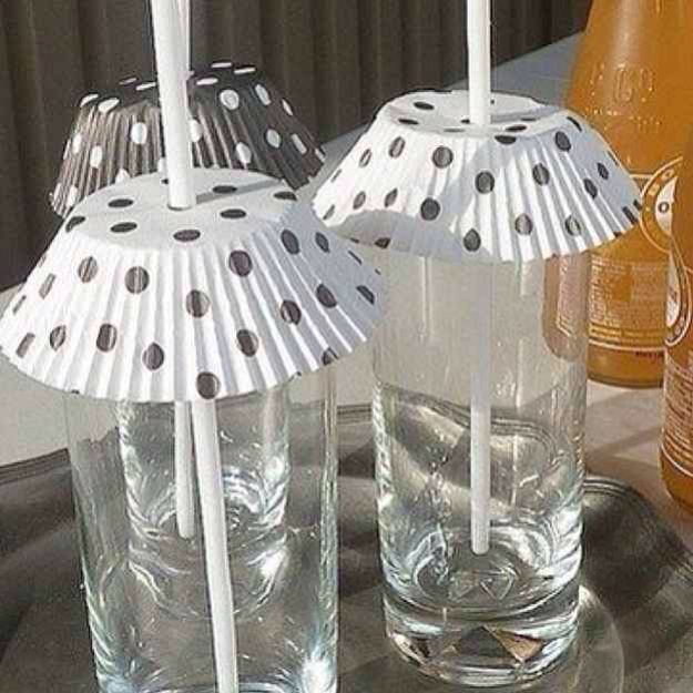 24. Coffee Filters are Perfect for Keeping the Bugs out of Drinks