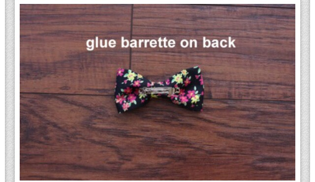 Glue barrette on the back and TADA!! You just learned how to create your very own bow!!