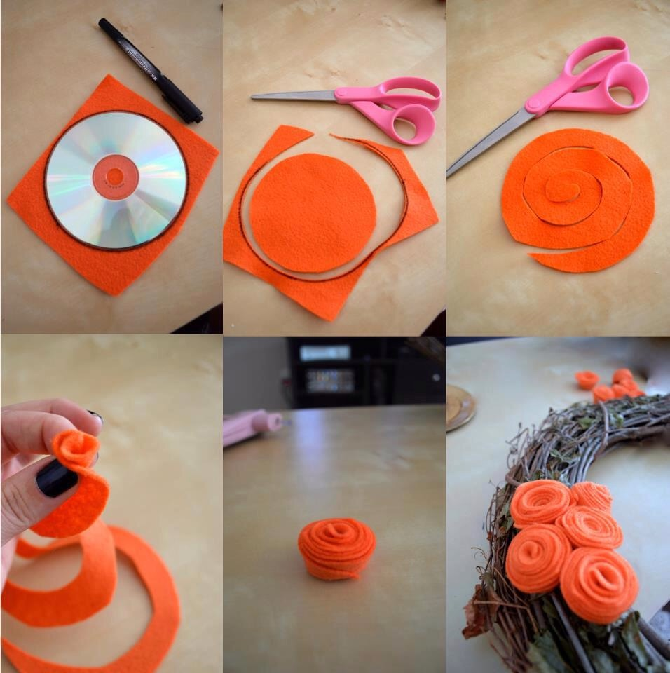 An easy felt rose is really easy to make. Once you start you will be able to finish with ease, but make sure that you have all of your materials and then start your project. You will need about 10 minutes to do this rose and you can then make more or give one away as a gift.