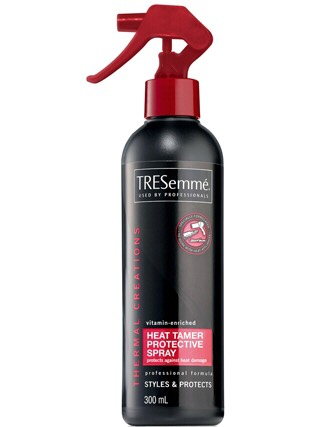 Heat Protector Spray is very helpful for not damaging hair!