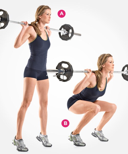 Squats! 5 sets of 12-15 reps