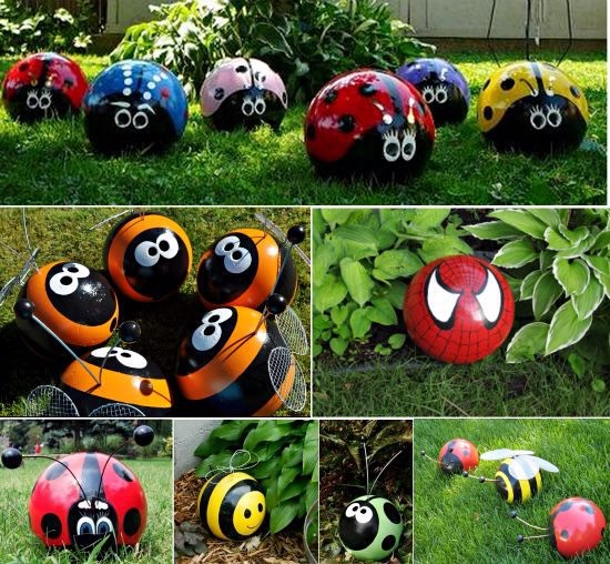 These are a cute way to add some bright colour to your garden. Plus kids will love them