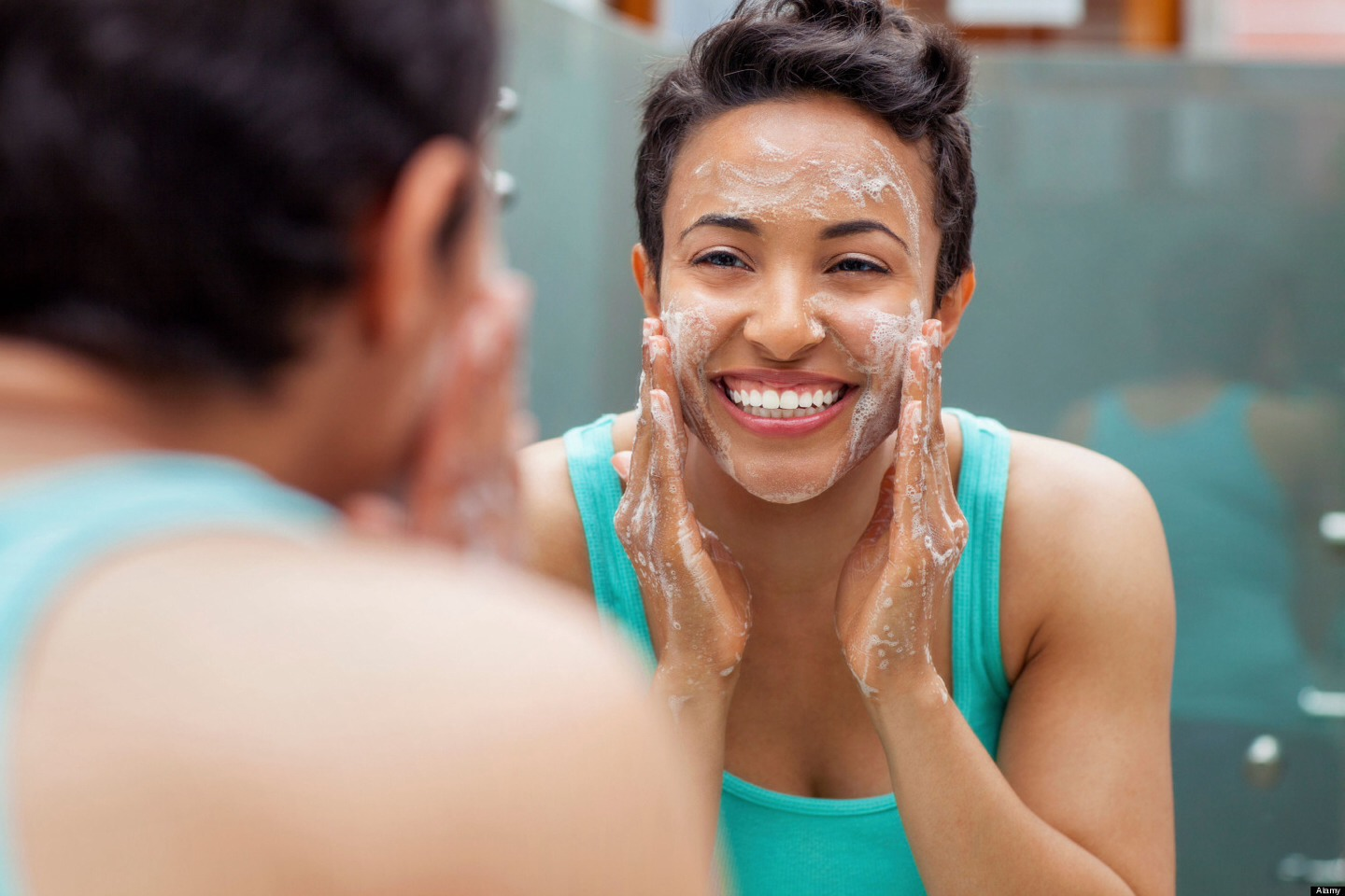 Oily doesn't mean dirty. If you have oily skin don't over scrub it to get it clean, it could make your problem worse.