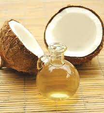 Step Two:   After letting the vinegar sit in your hair until it is dry, grab a generous amount of coconut oil and smother it all over your hair then place the shower cap over the top and let it sit.  The use of coconut oil on hair helps to reduce protein loss, and eliminate dandruff