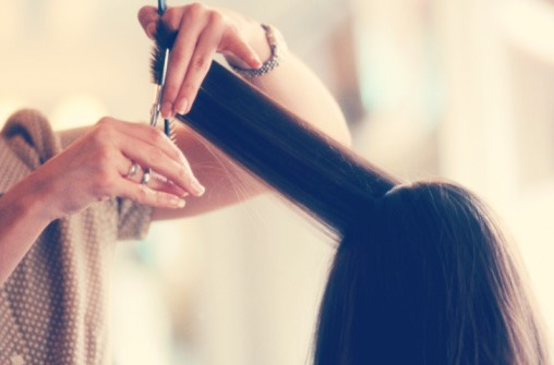 The first step to long healthy hair is to trim or cut any damaged ends. If your hair is damaged, it won't be able to grow as fast as you would like it to.