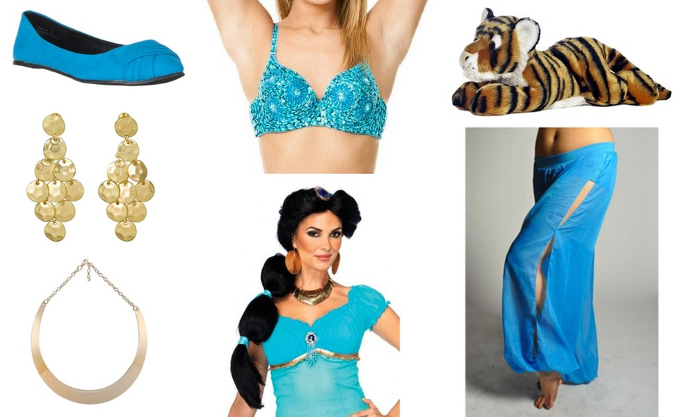 Jasmine Costume: See above for what to wear.