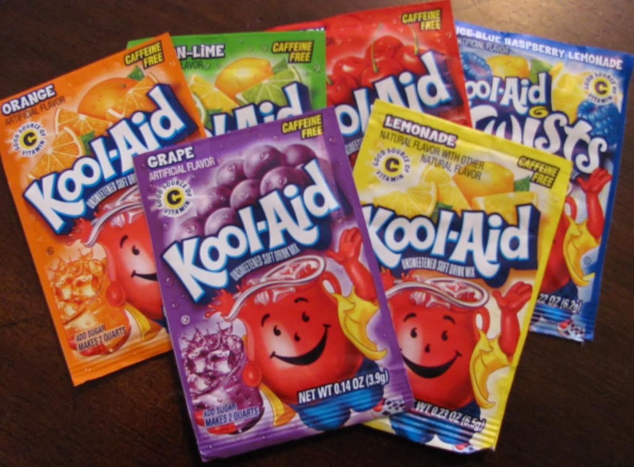 Kool-aid mix (depending on the flavor you want)
