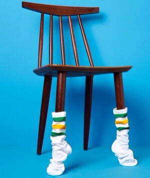 Socks as Floor Protector Protect wood floors. Slide socks onto the legs of chairs and tables so they don't scratch the floor when you rearrange the room (yet again).
