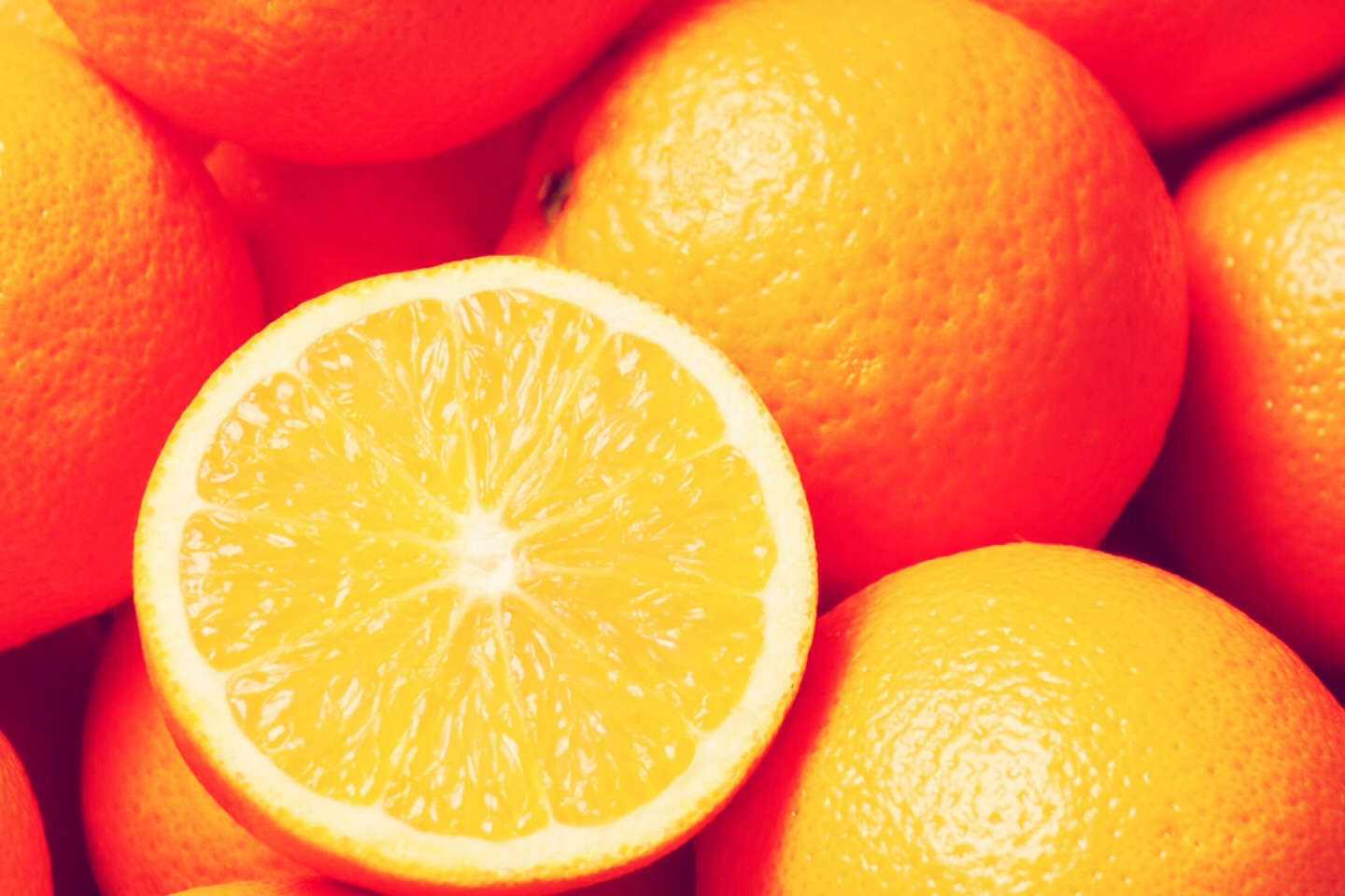 Eat an orange before working out. It'll hydrate you, and prevent your muscles from being so sore the next day!