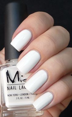 1- Paint your nails white