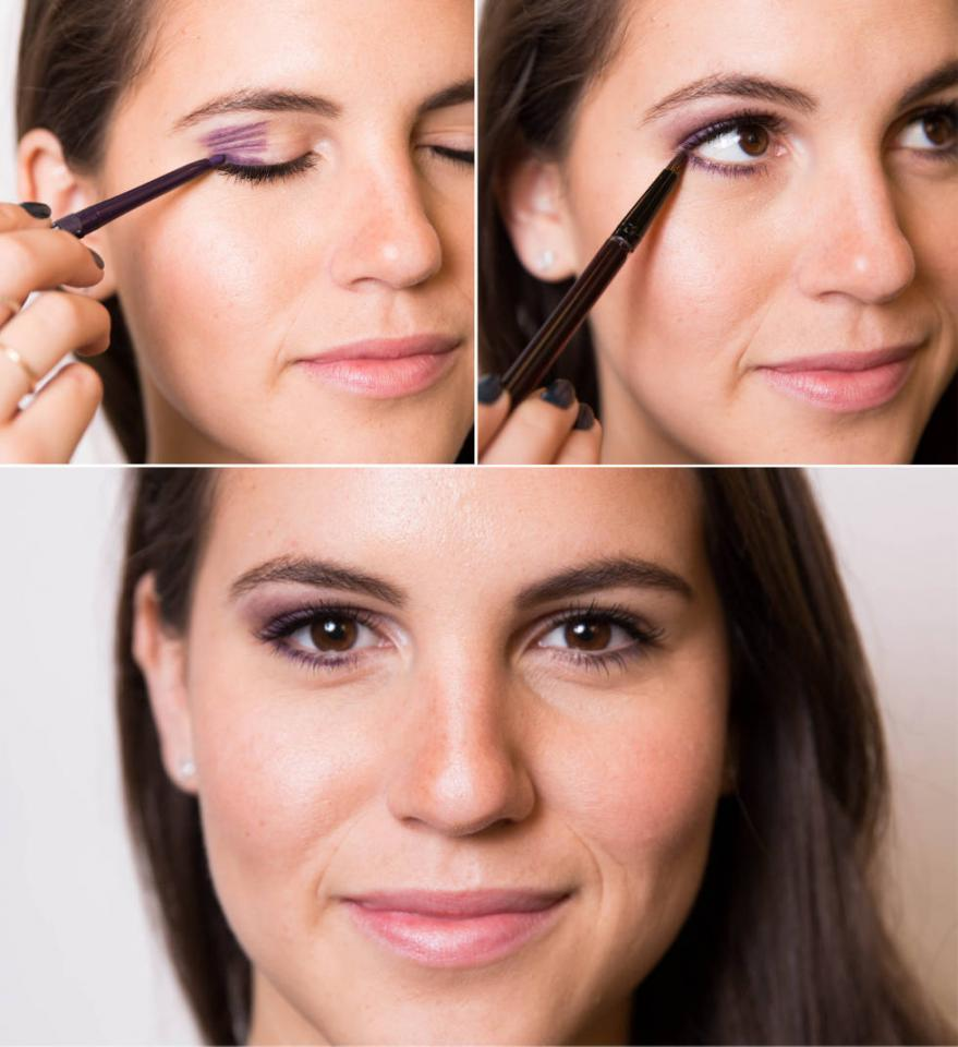 1. Master the art of a smoky eye with this map. Use different eyeliner shades to fill in sections of your eyes, and then blend to perfection using an eye shadow brush (or your finger).