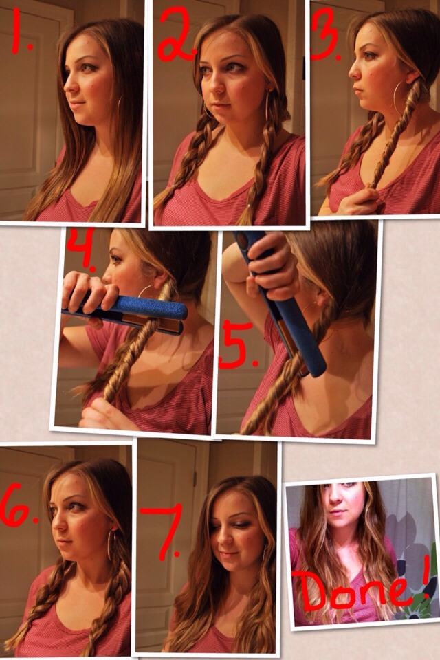 Braid your wet hair and live it overnight