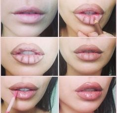 Contour your lips with a lip liner