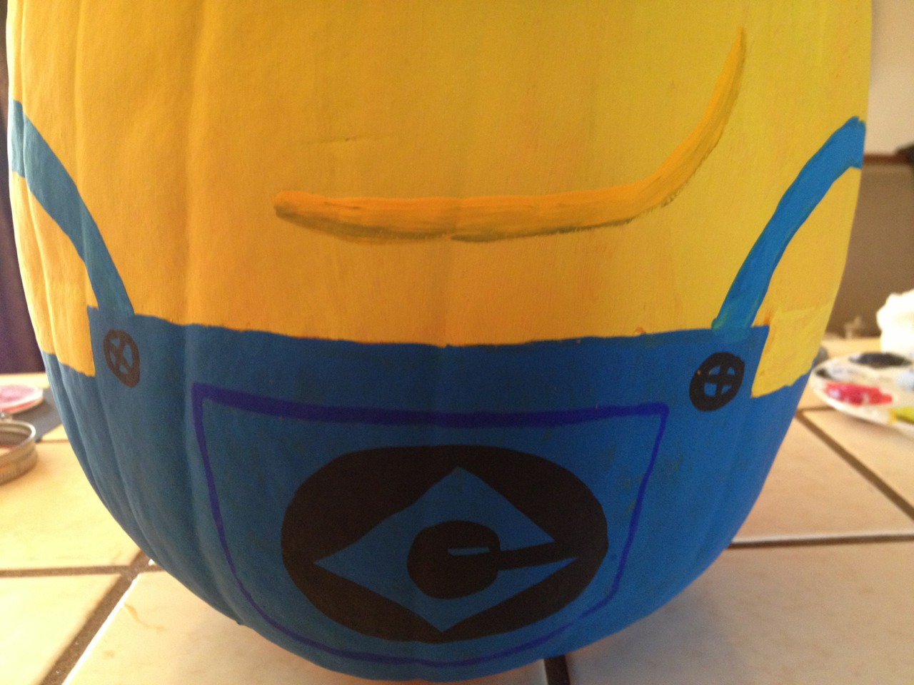 Painted Minion Pumpkins Musely