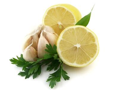 Lemon juice and garlic🍋