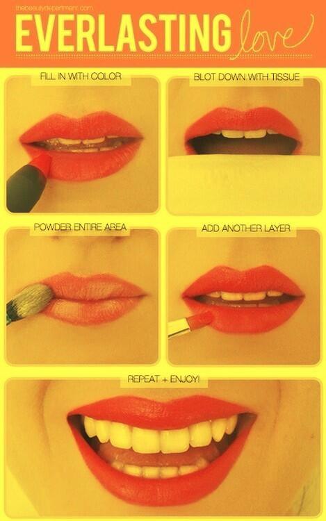 Want lipstick that lasts? Here's a little secret! 💄💋