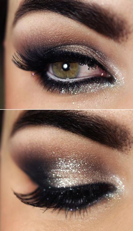 "Put on your first eye shadow. Then make the end corner of your eye a darker color in a SMALL ""v"" shape and blend up your crease a little bit"