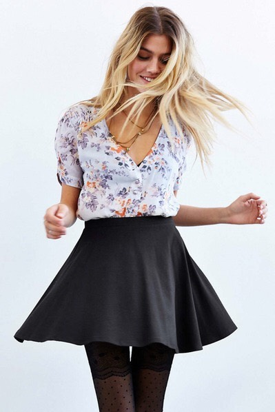 A Circle Skirt This style skirt is a great alternative to jeans or leggings, especially when wanting to feel a bit more feminine.