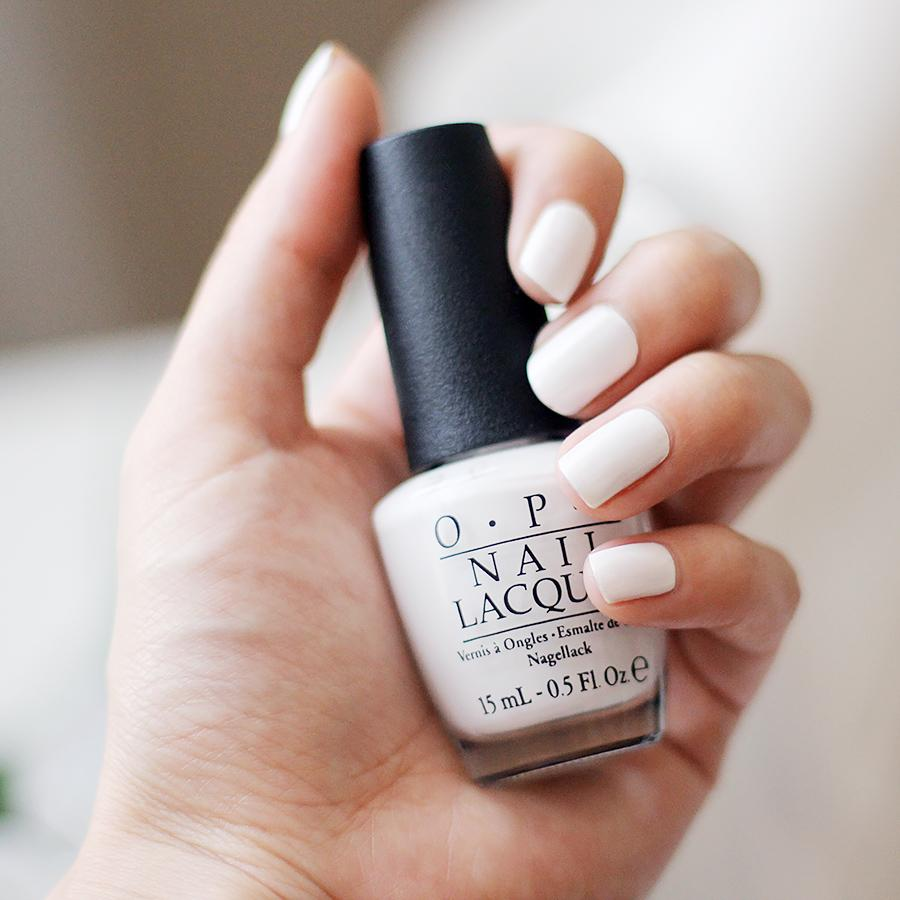 If your nail polish is too sheer, just paint a white base coat on first.