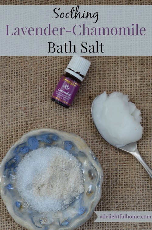 This soothing lavedner-chamomile bath salts recipe is a good example of how to best prepare bath salts with essential oils.  http://adelightfulhome.com/soothing-chamomile-lavender-bath-salts/