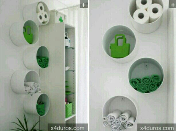 use pvc pipes for neat storage