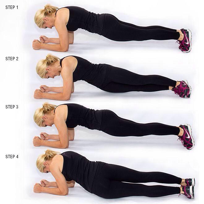 30 hip twist plank