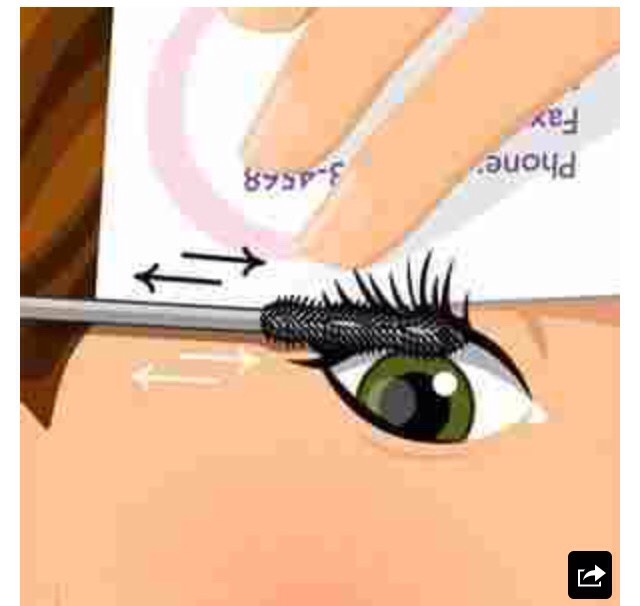 All you need is a business card or anything related and you can say goodbye to mascara on your eyelashes