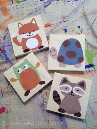 Little simple animals for a kids room
