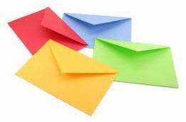 Moisten envelope glue before sealing. Genius! I HATE licking envelopes!